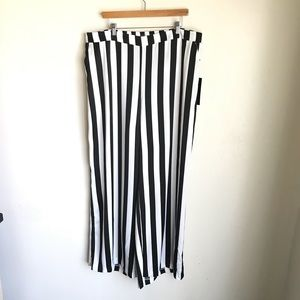NY & Co Gabrielle Union Striped Wide Leg Trousers